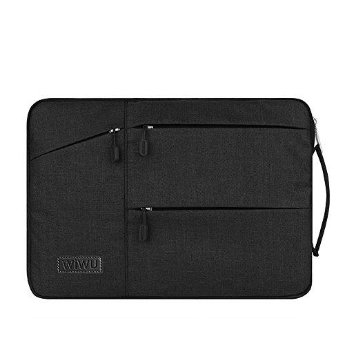 11,6MacBook móvil, casquillos de elecfan® Resistente de agua portátil Bolsa protectora para 11–11,6pulgadas Macbook Air, Netbook Tablette con un pequeño caso., negro, 15,6 Zoll