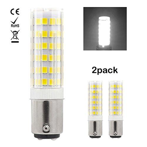 1819 Ba15d LED-Glühlampe 220V-240V 7W Kühles Weiß 60W Halogen-Equivalent SBC Kleine Bajonett LED-Birnen für Nähmaschine / Appliance-Lampen (2-Packs)