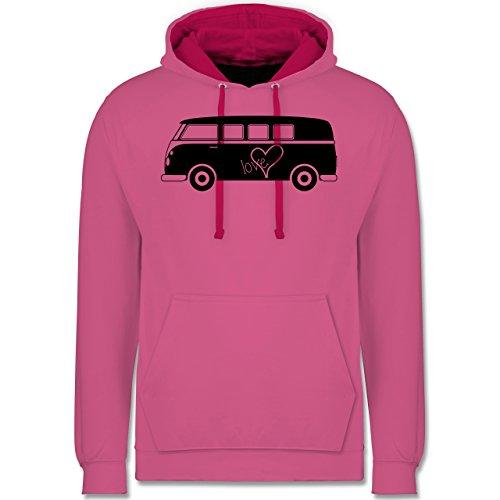 Autos - Bus T1 - Kontrast Hoodie Rosa/Fuchsia