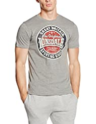 "Lonsdale T-Shirt "" BRIXTON "" - Marl Grey"