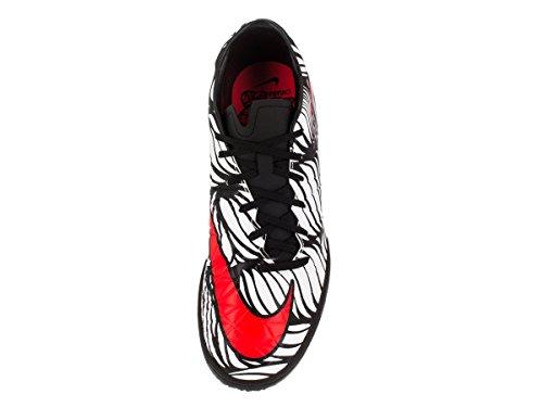Nike Hypervenom Phelon Ii Njr Ic, Chaussures de Football Homme Noir / Rouge / Blanc (Noir / Lumineux Crimson-Blanc)