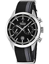 Festina Herren-Armbanduhr Chronograph Quarz Textil F16827/3