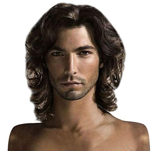 TIREOW Mode Coole Perücken Kurze Natürliche Haarschokoladenfarbe Hübsche Herren Perücke