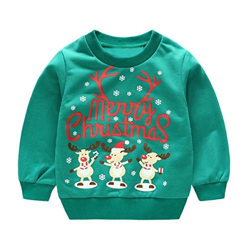 f3eaf3eb738a Robemon✬Hiver Noël Ensemble Bébé Fille Garçon Vêtements Col Round Manches  Long Unisex Toddler Kids