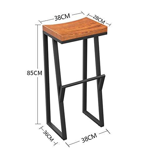 MEIDUO Durable Selles Options de différentes hauteurs de chaise de tabouret de bar en bois massif pour intérieur extérieur (taille : 85cm)