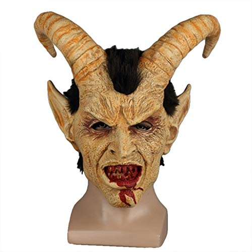QWEASZER Kostüm Erwachsene Fallen Angel Mask Terror Teufel Luzifer Satan Maske Helm Halloween Cosplay Party Performance Requisiten,Fallen Angel Mask-OneSize