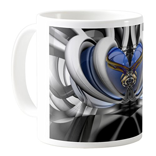 AquaSakura - Royal Crown - 325 ml Keramik Kaffeetasse Teetasse -
