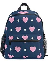 f3e8898bb30d ISAOA 3D Printed Pink Heart Love Blue Kids Backpacks Kindergarten Preschool  Toddler Boys Girls Bookbag