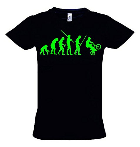 BMX Evolution Kinder T-Shirt schwarz-green, Gr.140cm
