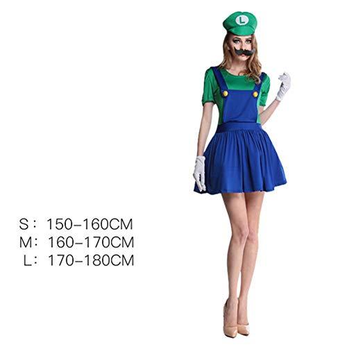 GUAN Halloween-Kostüme, Kleidung, Party, Cos, - Mario Halloween Kostüm