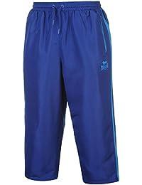 Lonsdale Homme 2 Rayure 3/4 Tissé Pantalon De Survêtement Jogger Sport Running