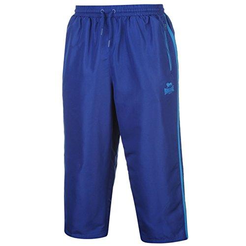 Lonsdale Herren 2 Streifen 3/4 Länge Hose Sporthose Trainingshose Jogginghose Blau Medium (Hose Polka Dot Leggings)