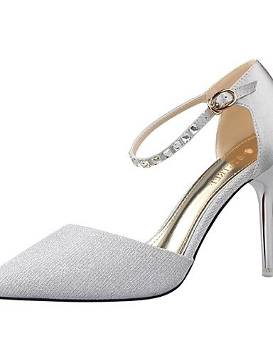WSS 2016 Chaussures Femme-Habillé-Noir / Rose / Rouge / Argent / Gris / Or-Talon Aiguille-Talons / Bout Pointu / Bout Fermé-Talons-Similicuir black-us6 / eu36 / uk4 / cn36