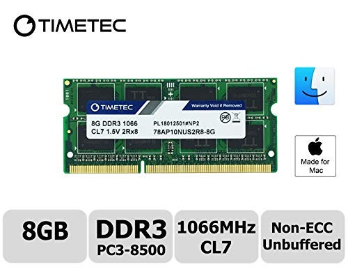 Timetec Hynix IC compatible with Apple 8GB DDR3 PC3-8500 1066MHz memory upgrade for iMac 20 inch /21.5 inch/24 inch /27 inch, MacBook Pro 13 inch/ 15 inch/ 13 inch, Mac mini 2009 2010