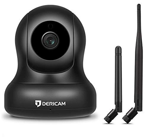 1080P Home Wireless Überwachungskamera, Pan/Tilt Control, 4X Digitalzoom, Nachtsicht und Zwei-Wege-Gespräch, Baby Pet Veranda Monitor, 2018 aktualisierte Alternative Antenne Version (Schwarz)