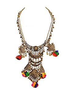 Zephyrr Fashion Long Boho Bib Statement Turkish Jewelry Choker Necklace For Women