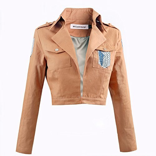 CoolChange Attack on Titan Uniform Jacke des Aufklärungstrupp - Attack On Titan Kostüm Sasha