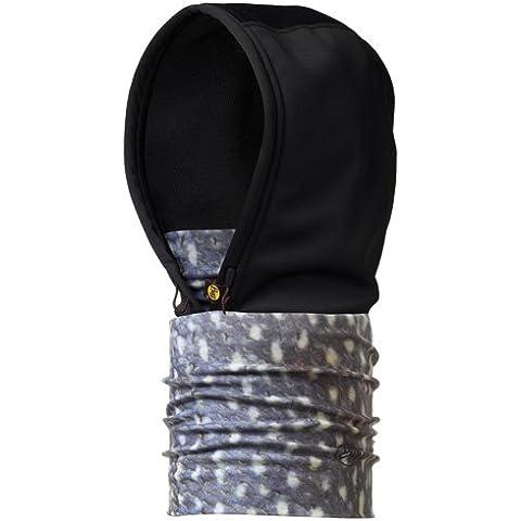 Buff–Cappuccio multifunzione Buff, Uomo, Hood, Northern Pike/Black, 23,5 cm