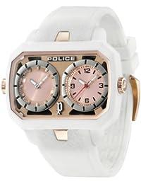 Police R1451109017 - Reloj unisex con correa de caucho, color dorado / gris