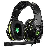 jfhrfged SADES SA938 Wired Gaming 3.5 - Auriculares con micrófono para PS4 A