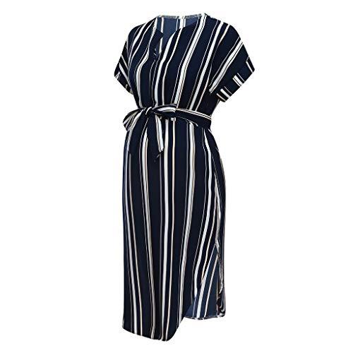 Beikoard Umstandskleid Mutterschaft Kleider Kleidung für Schwangere Frauen Kurzarm Gestreiften Kleid 2019 Sommer Kleidung Für Schwangere