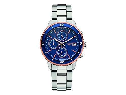 elysee-womens-sina-40mm-steel-bracelet-case-quartz-blue-dial-watch-83801s