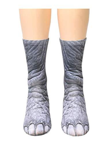 TEBAISE Damen Mädchen Baumwolle Socken Cartoon Süße Design mit Lustiger Tiere Malerei Füßlinge Sneakersocken,Halterlose ()