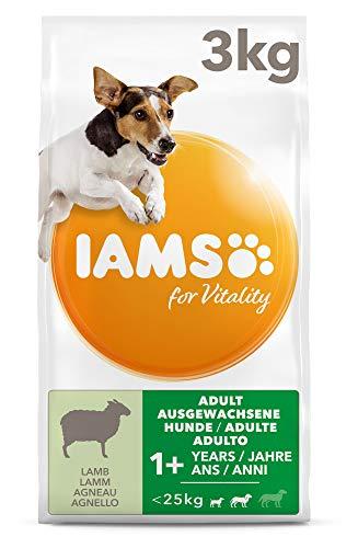 IAMS for Vitality Adult Hundefutter trocken für kleine & mittlere Rassen mit Lamm, 3kg