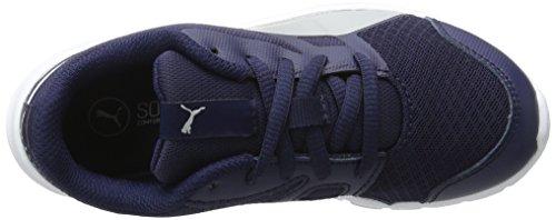 Puma Flexracer Ps, Scarpe Da Ginnastica Basse Unisex – Bambini Blu (Peacoat-gray Violet 09)