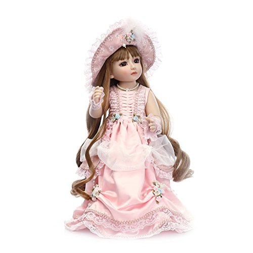 Manyo Adoption Baby Doll 45 cm 18 Zoll Schöne Prinzessin Lolita Kleid Hut Mädchen Spielzeug Baby Doll Geschenke Vintage Great Birthday