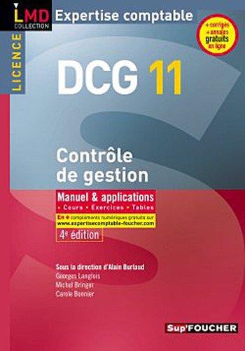 DCG 11 Contrôle de gestion 4e édition