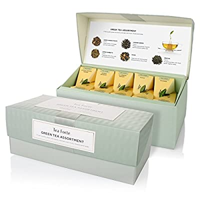 Tea Forte Coffret Thé Vert Assortiment 20 pyramides - Green Tea Assortment by Tea Forté