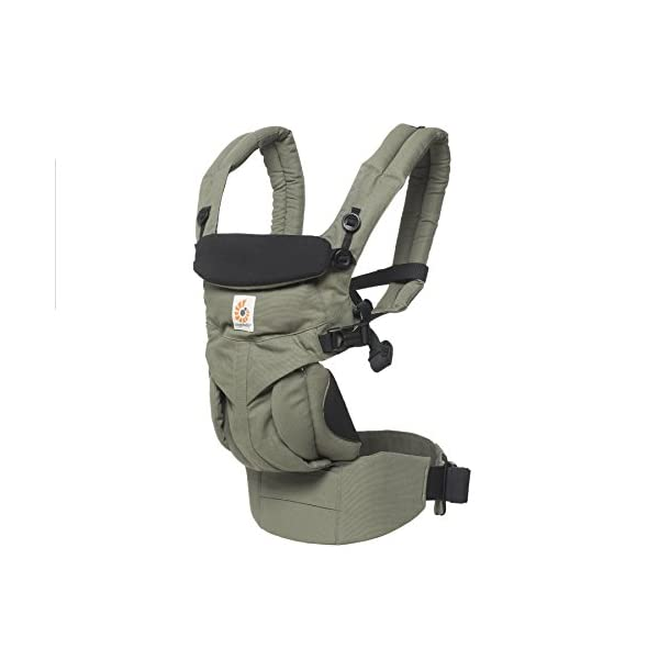 ERGObaby Baby Carrier Newborn to Toddler, 4-Position Omni 360 Khaki Green, Front Back Child Carrier Ergobaby Ergonomic Baby carrier with 4 wearing positions: parent facing, on the back, on the hip and on the front facing outwards. Four ergonomic carry positions and easy to use. Adapts to baby's growth: Infant baby carrier newborn to toddler (7-33 lbs./ 3.2 to 20 kg), no infant insert needed. Maximum comfort for parents: Longwear comfort with lumbar support waistbelt and extra cushioned shoulder straps. 11