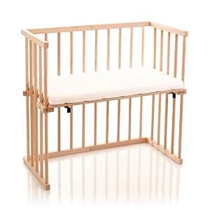 Dreamgood Lit d'allaitement en bois de hêtre Avec matelas Prime Air inclus