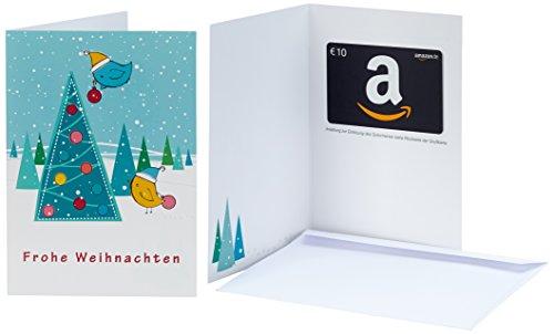 Amazon.de Grußkarte mit Geschenkgutschein - 10 EUR (Weihnachtsspatzen)