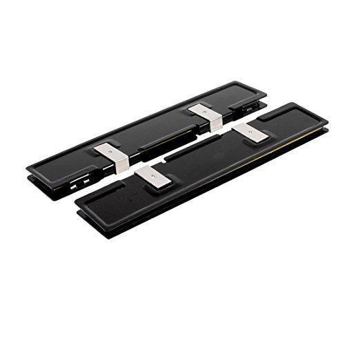 sourcing map 2 Stücke Schwarz Aluminum Kühlkörper Scheibe Kühler für DDR RAM Speicher DE de -