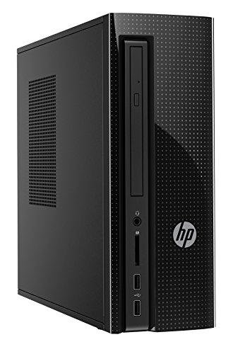 HP Slimline 260-a108ns - Ordenador Sobremesa (AMD Quad-Core E2-7110, 4 GB RAM, 1 TB HDD, AMD Radeon R2, FreeDOS 2.0), Negro + Teclado QWERTY Español + Ratón Óptico [España]