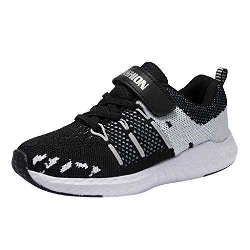 HDUFGJ Unisex Kinderschuhe Sneaker Atmungsaktiv Kinderschuhe Fliegendes Weben Jungen Turnschuhe Mädchen Laufschuhe Outdoor Schuhe Bequem Weicher Boden Fitnessschuhe
