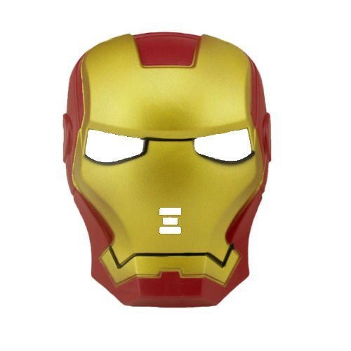 stüm Iron Man Super Hero Maske Plastik Marvel Comic Gold Rote Tony Stark - Rot/Gold, One Size, Einheitsgröße (Iron Man Kostüm Cosplay)