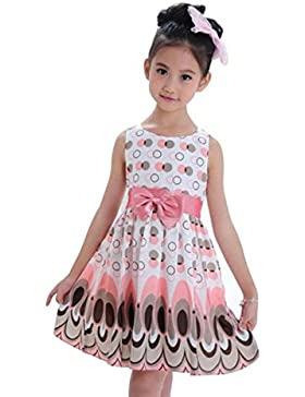 Vestido de niña, RETUROM Vestido sin mangas del vestido de partido de la burbuja de la correa del arco de la muchacha...