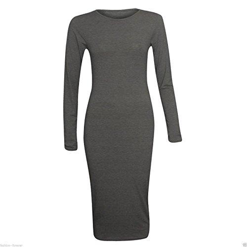 Generic Damen Schlauch Kleid Dunkelgrau