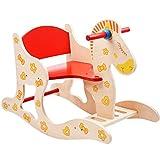 Lazy sofa Schaukelpferd Massivholz Schaukelstuhl für 1-4 Jahre alt Baby Kind Spielzeug 60x28.5x45cm LI Jing Shop