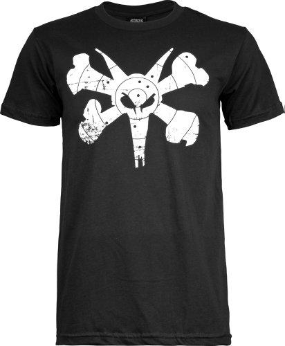 Bones Wheels Knochen ™ Rollen T-Shirt Ziel, Herren, schwarz (Powell Schweizer)