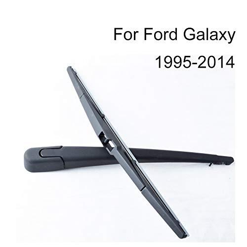 SLONGK Heckwischerarm Und -Blätter, Für Ford Galaxy 1995-2014 Naturkautschuk Windschutzscheibe Windowscreen Auto Auto-Zubehör -