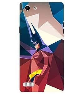 Chiraiyaa Designer Printed Premium Back Cover Case for Oppo Neo 7 (colorful batman) (Multicolor)