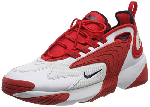 Nike Zoom 2K, Scarpe da Running Uomo, Multicolore (off White/Obsidian/University Red 102), 44.5 EU