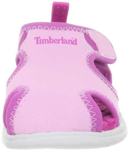Timberland Little Harbor Closed Toe, Sandales mixte enfant Rose