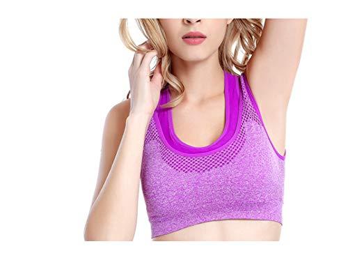 Adisaer-Soutien-Gorge De Sport Femme Push Up sans Armature Gilet Ma Violet Nylon Non Câblém