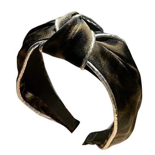 TOPGKD Ins heißer Verkauf Damen Leopard Fashion Casual Stirnband Bogen Stirnband Stirnband Haargummi (Armeegrün)