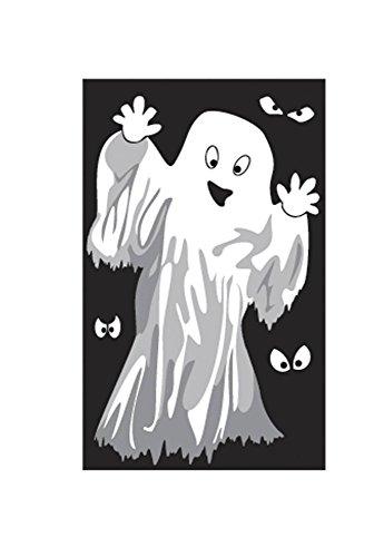 Décoration de fenêtre Fantà´mes ou Squelettes Halloween - taille - Taille Unique - 229684
